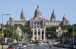 Allgemeine Ansicht Barcelonas MNAC lizenzfreie stockfotos