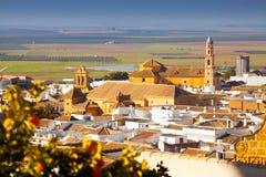 Allgemeine Ansicht der andalucian Stadt Osuna Stockbilder