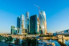 Allgemeine Ansicht der internationalen Geschäftszentrum-Moskau-Stadt Stockbild