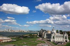 Allgemeine Ansicht der Stadt von Kasan von der Aussichtsplattform. Russland Stockfotos
