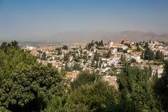 Allgemeine Ansicht des Alhambras Stockfotografie