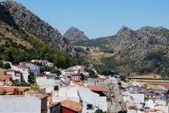 Weißes Dorf, Benaojan, Andalusien. lizenzfreies stockbild