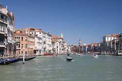 Allgemeine Ansicht des Granc-Kanals in Venedig Lizenzfreie Stockfotos