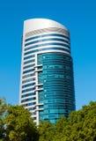 Allgemeine Ansicht des modernen Gebäudes in Scharjah Lizenzfreie Stockfotografie