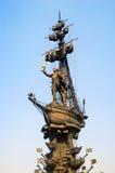 Allgemeine Ansicht des Monuments zu Peter der Große Stockbilder