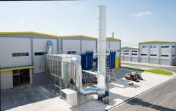 Allgemeine Ansicht in einen Wiederverwertungsabfall zur Energiefabrik Lizenzfreies Stockfoto