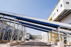 Allgemeine Ansicht in einen Wiederverwertungsabfall zur Energiefabrik Lizenzfreie Stockfotografie
