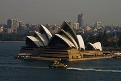 Allgemeine Ansicht ikonenhaften Sydney Opera Houses von Sydney Ha Lizenzfreie Stockfotografie