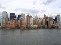 Allgemeine Ansicht New- York Citymanhattan Lizenzfreie Stockfotografie