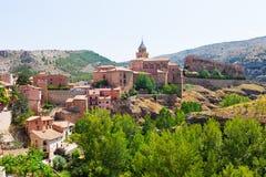 Allgemeine Ansicht von Albarracin Lizenzfreie Stockfotos