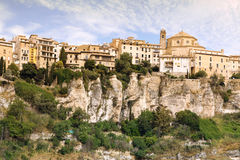 Allgemeine Ansicht von Cuenca-Stadt morgens. Kastilien-La Mancha, Lizenzfreies Stockbild