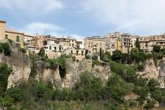 Allgemeine Ansicht von Cuenca-Stadt morgens. Kastilien-La Mancha, Stockfoto