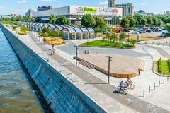 Allgemeine Ansicht von Museon-Park von Moskau stockfotos