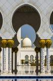 Allgemeine Ansicht von Sheikh Zayed Mosque in Abu Dhabi, vereinigtes Araber-EM Stockfoto
