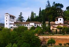 Allgemeine Ansicht zum Palast von Generalife Lizenzfreies Stockfoto