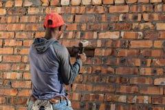Allgemeine Arbeitskraft auf einer Baustelle stockfoto