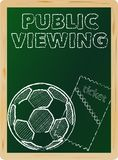 Allgemeine Betrachtung des Fußballs vektor abbildung