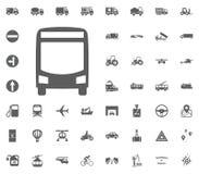 Allgemeine Busikone Gesetzte Ikonen des Transportes und der Logistik Gesetzte Ikonen des Transportes Lizenzfreies Stockbild