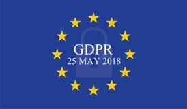 Allgemeine Daten-Schutz-Regelung GDPR vektor abbildung