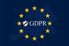 Allgemeine Daten-Schutz-Regelung GDPR lizenzfreie abbildung
