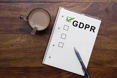 Allgemeine Daten-Schutz-Regelung GDPR lizenzfreie stockbilder