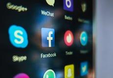 Allgemeine Social Media-Anwendungen stockbilder