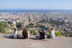 Allgemeine Stadtansicht von Blick heraus Turo de la Rovira-Hügel, Barcelon Lizenzfreie Stockfotografie