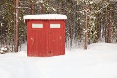 Allgemeine Toilette in der geöffneten Luft Stockfotos