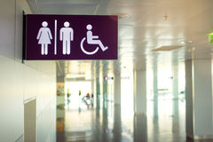Allgemeine Toilettenzeichen Stockfotos