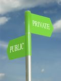 Allgemeine und private Gebiete Stockfoto