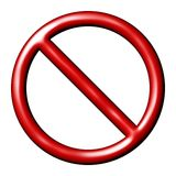 Allgemeine verbotene Zeichen-Warnung Lizenzfreies Stockbild