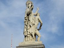 Allgemeiner Art Sculpture in Paris Lizenzfreies Stockfoto