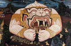 Allgemeiner Art Thai Mural Painting lizenzfreies stockfoto