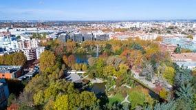 Allgemeiner Garten Compans Caffarelli in Toulouse stockfoto
