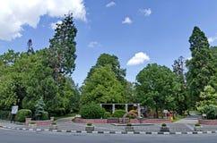 Allgemeiner Garten in der kleinen Bergstadt Stockfotos