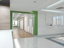 Allgemeiner Innenraum 3D überträgt Stockfotografie