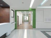 Allgemeiner Innenraum 3D überträgt Lizenzfreie Stockbilder