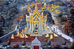 Allgemeiner Kunst-Anstrich bei Wat Phra Kaew lizenzfreie stockfotografie