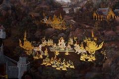 Allgemeiner Kunst-Anstrich bei Wat Phra Kaew lizenzfreie stockbilder