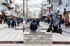 Allgemeiner Markt in Lah Ladakh stockfotos