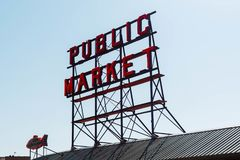 Allgemeiner Markt-Pikes Platz stockbild