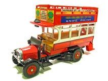 Allgemeiner offener roter Bus der Weinlese Stockbild