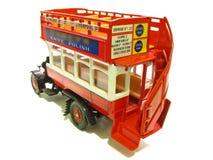 Allgemeiner offener roter Bus der Weinlese Stockbilder
