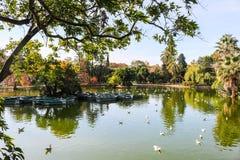 Allgemeiner Park in Barcelona, Spanien Lizenzfreies Stockfoto