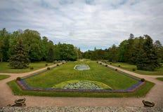 Allgemeiner Park des Palanga Bernsteinmuseums Stockbild