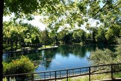 Allgemeiner Park La Fontaine Stockfoto