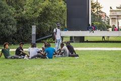 allgemeiner Park in Mailand Lizenzfreie Stockfotografie