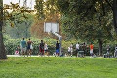 allgemeiner Park in Mailand Stockfotos