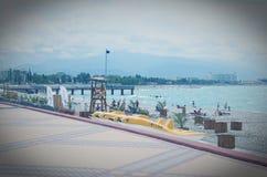 Allgemeiner Strand nahe Olimpic-Park Effekt Lo-FI Lizenzfreie Stockfotos