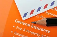 Allgemeiner Versicherungsplan Lizenzfreie Stockbilder